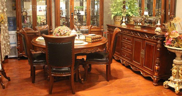 晓月蕾曼欧式餐厅家具 气质高贵且实用