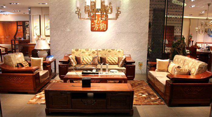 豪华大气新中式沙发 东方弘叶纯实木家具图片
