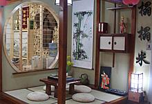 四套日式风格起居室装修 和室榻榻米
