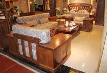 客厅实木沙发组合 美观实用兼具收纳功能