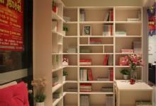 盛邦水洗白转角书柜带书桌 简约实用型