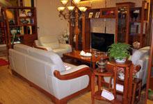 新中式实木客厅柜组合 超强收纳受青睐
