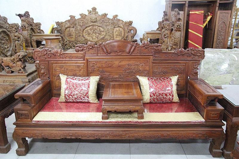 正明红木 明式沙发七件套