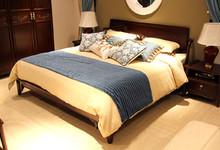 中国概念家具黑胡桃木大床促销6500元