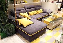 意风家具新店开业 转角沙发定制书柜促销