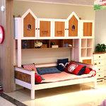 星星索儿童家具 W009-A10 白咖床