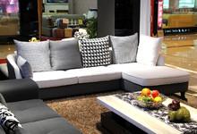 依尔罗兰现代简约布艺转角沙发 特价4800元
