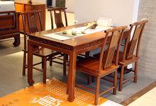 一品木阁金丝影木富贵红餐桌促销4500元
