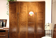 光明家具红橡木四门衣柜促销12315元