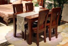 光明家具水曲柳餐桌四椅套餐促销5999元
