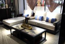 蕴东方家具 刺猬紫檀转角沙发促销26800元