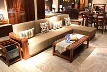 天坛家具乌金木转角沙发优惠促销15940元
