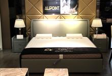 伊丽伯特真皮双人床特价5999元 赠床垫
