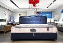 九洲揽月 牛皮双人床+床垫 套餐特价5880元