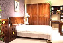 布莱诗顿胡桃楸木卧室三件套特价13500元