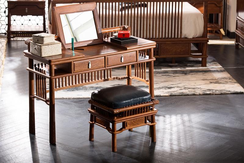 红木非洲紫檀刺猬实木家具古典黄