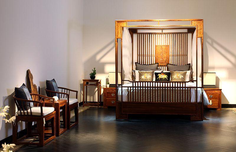 新中式红木架子床图片大全