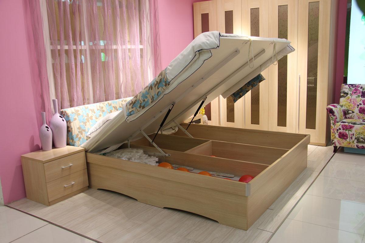 实木床箱结构图